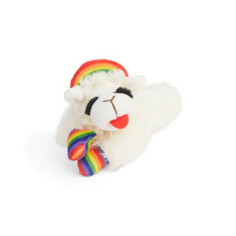 Multipet International Rainbow Lamb Chop Dog Toy