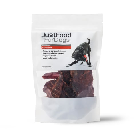 JustFoodforDogs Healthy Snack Beef Brisket Dog Treats