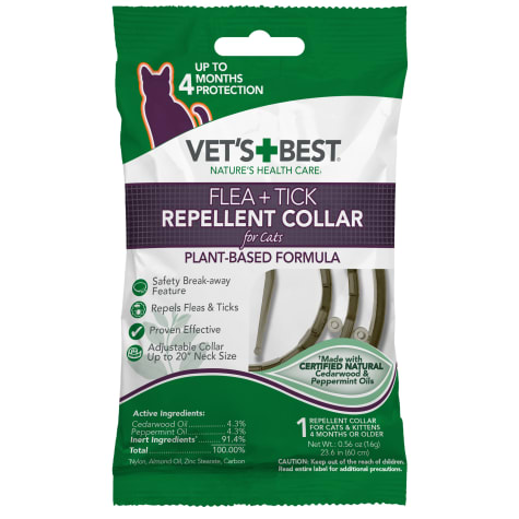 Vet's Best Flea & Tick Repellent Collar for Cats