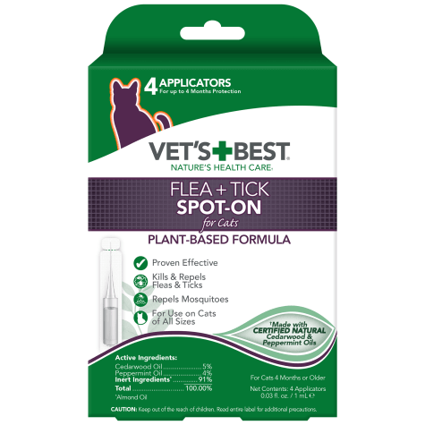 Vet's Best Flea & Tick Spot-On for Cats