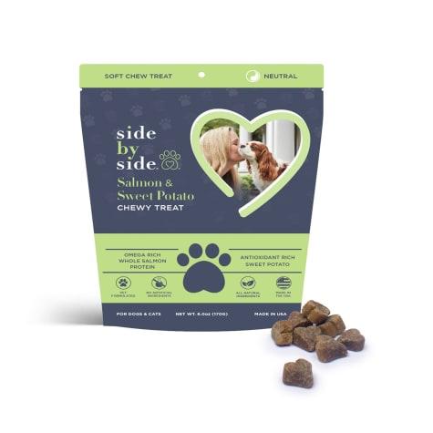 Side by Side Neutral Salmon & Sweet Potato Recipe Dog Treats