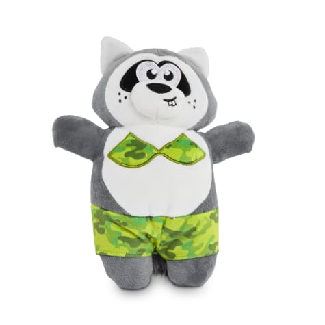 Leaps & Bounds Cool Critter Raccoon Plush Dog Toy