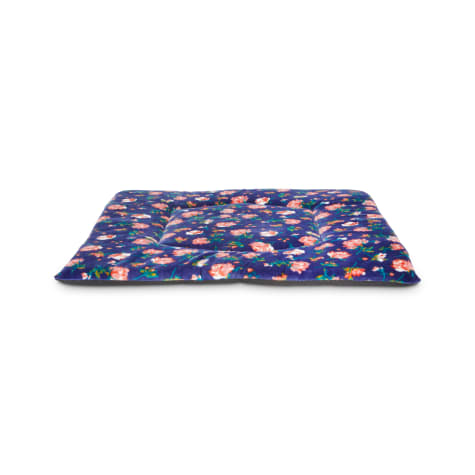 EveryYay Snooze Fest Navy Floral Square Lounger Cat Mat