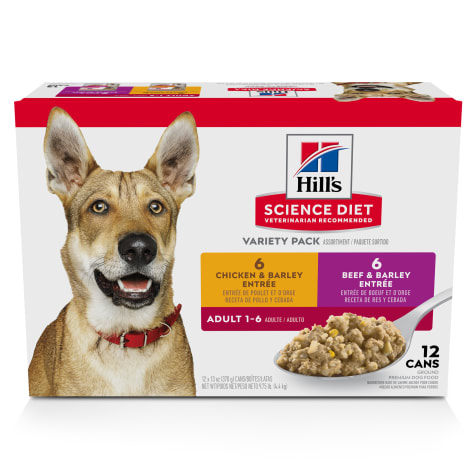 Hill's Science Diet Adult Chicken and Beef Canned Wet Dog Food Variety Pack