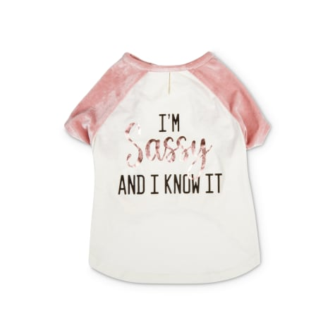 Bond & Co. White & Pink I'm Sassy And I Know It Dog Shirt