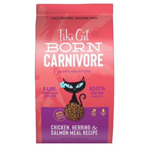 Tiki Cat Born Carnivore Chicken & Herring Dry Food