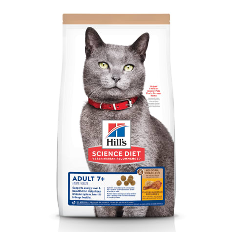 Hill's Science Diet Senior 7+ No Corn, Wheat, Soy Chicken Flavor Dry Cat Food