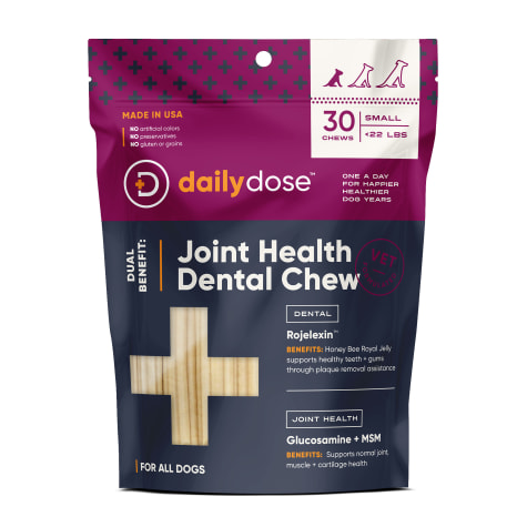 daily dose Dual Benefit Dental + Joint Health Chews for Small Dogs