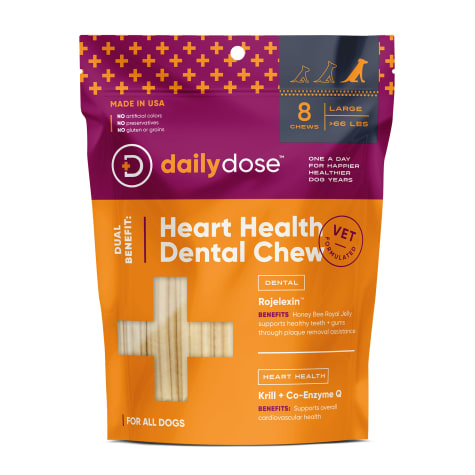 daily dose Dual Benefit Dental + Heart Health Chews for Large Dogs