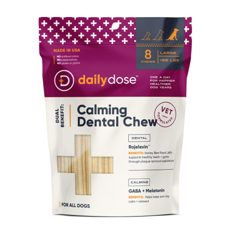 daily dose Dual Benefit Dental + Calming Chews for Large Dogs