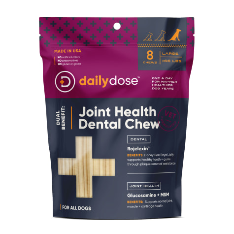 daily dose Dual Benefit Dental + Joint Health Chews for Large Dogs
