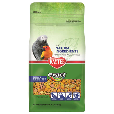 Kaytee Exact Rainbow with Natural Colors Parrot and Conure Food