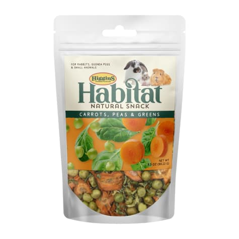 Higgins Habitat Natural Snack Carrots, Peas & Greens Treats for Rabbit