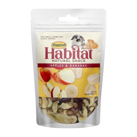 Higgins Habitat Natural Snack Apples & Bananas Treats for Rabbit