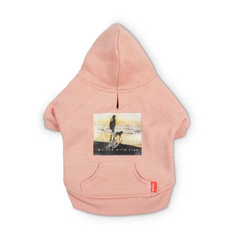 Reddy Pink Let's Walk Fleece Dog Hoodie