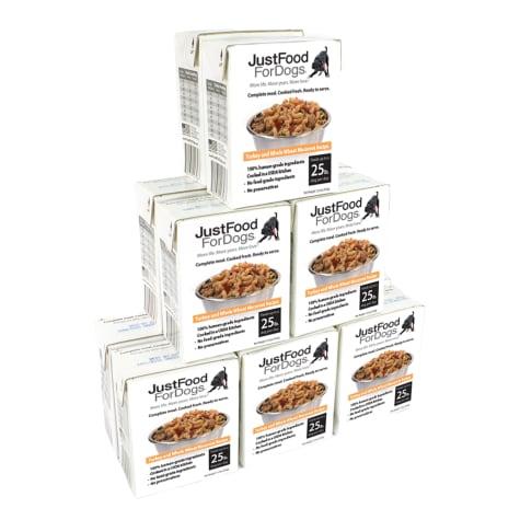 JustFoodForDogs Pantry Fresh Adult Turkey & Whole Wheat Macaroni Wet Dog Food