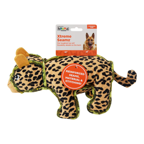 Outward Hound Xtreme Seamz Leopard Dog Toy