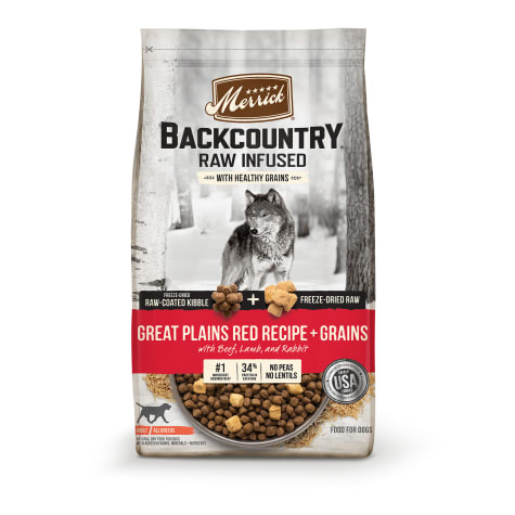 Merrick Backcountry High Protein Freeze-Dried Great Plains Red Recipe Dry Dog Food
