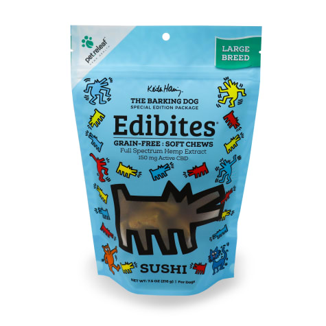 Pet Releaf Special Edition Keith Haring Collection Edibites Sushi Flavor Soft Chews for Large Breed Dogs