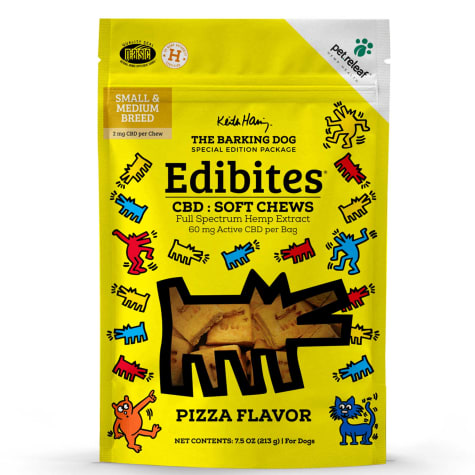 Pet Releaf Special Edition Keith Haring Collection Edibites Pizza Flavor Soft Chews for Dogs