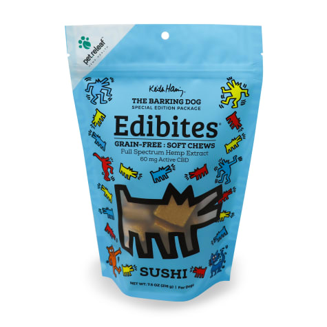 Pet Releaf Special Edition Keith Haring Collection Edibites Sushi Flavor Soft Chews for Dogs