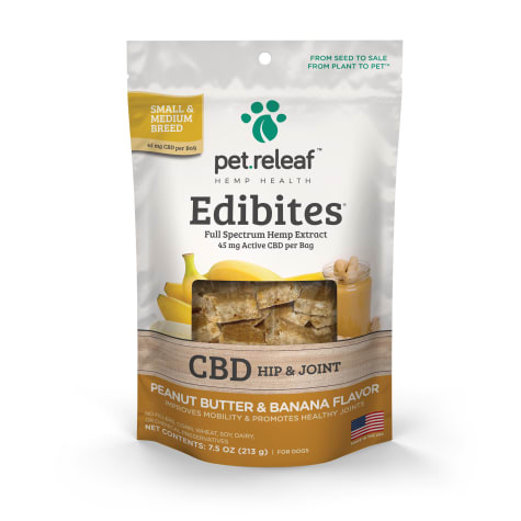 Pet Releaf Crunchy Edibites Peanut Butter & Banana Flavor for Dogs