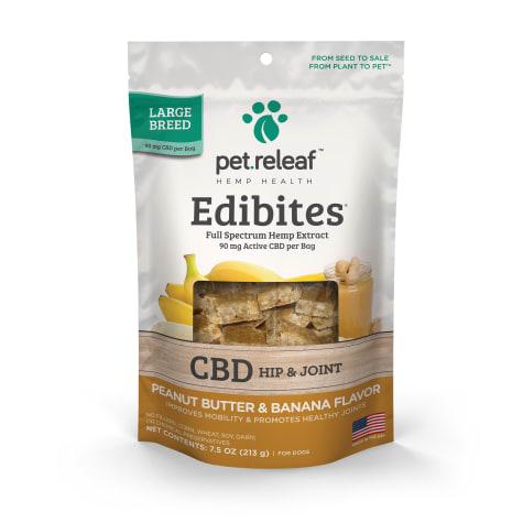 Pet Releaf Crunchy Large Breed Edibites Peanut Butter & Banana Flavor for Dogs