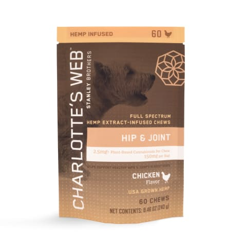 Charlotte's Web Hemp Infused Hip and Joint Chicken Flavored Chews for Dogs