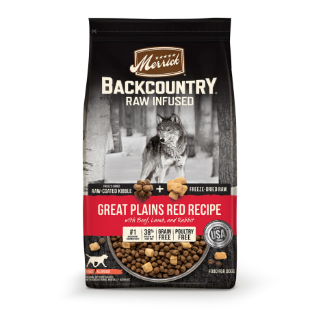 Merrick Backcountry Raw Infused Grain Free Freeze-Dried Great Plains Red Recipe Dry Dog Food