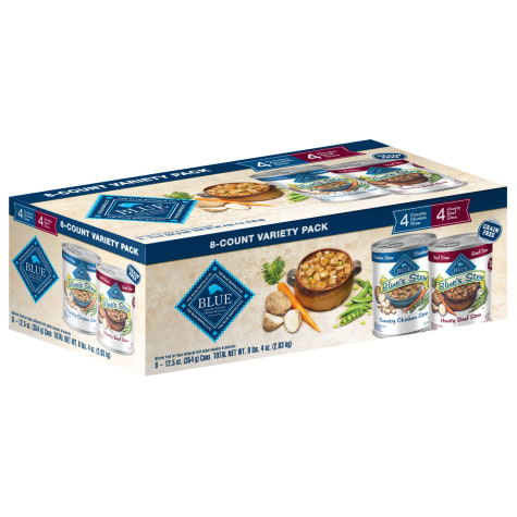 Blue Buffalo Blue Life Protection Natural Chicken & Beef Stew Variety Pack Adult Wet Dog Food