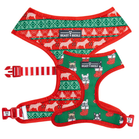 Beast & Buckle Christmas Reversible Dog Harness