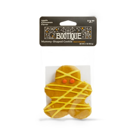 Bootique Mummy-Shaped Cookie Apple Cinnamon-Flavored Halloween Dog Treat