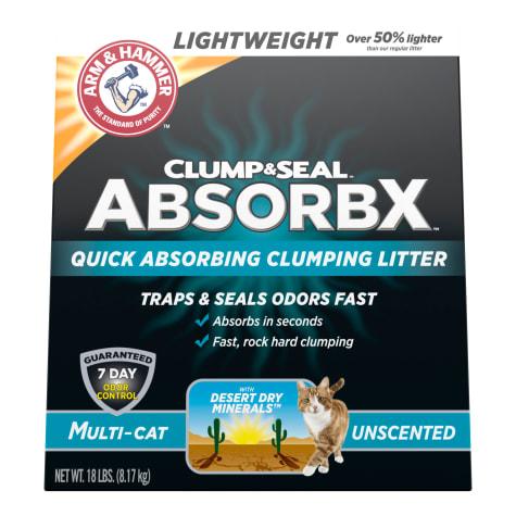 Arm & Hammer Clump & Seal AbsorbX Unscented MultiCat Clumping Litter