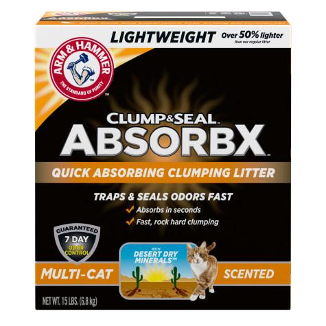 Arm & Hammer Clump & Seal AbsorbX Scented MultiCat Clumping Litter