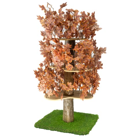 On2Pets Plum Autumn Square Cat Tree