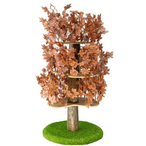 On2Pets Plum Autumn Round Cat Tree