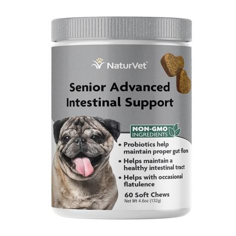 NaturVet Senior Advanced Intestinal Support Dog Soft Chew