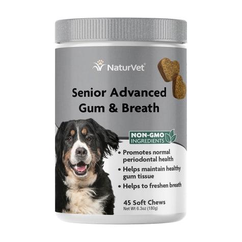 NaturVet Senior Advanced Gum & Breath Dog Soft Chew