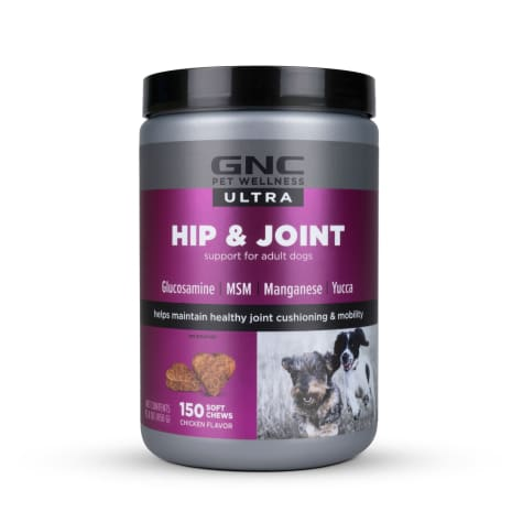 GNC Ultra Hip & Joint Chicken Flavor Soft Chews for Dogs