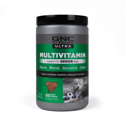 GNC Ultra Multivitamin Chicken Flavor Soft Chews for Senior Dogs