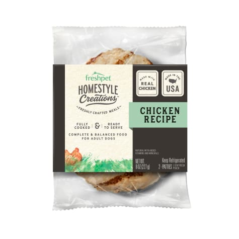 Freshpet Homestyle Creations Chicken Patty for Dogs