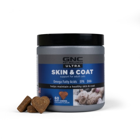 GNC Ultra Skin & Coat Chicken Flavor Soft Chews for Cats