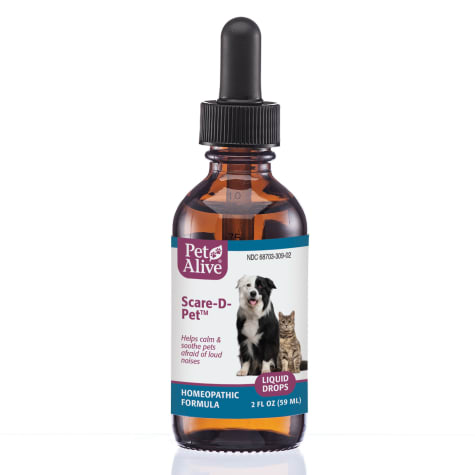 PetAlive Scare-D Liquid Drops for Pets Fear of Loud Noise