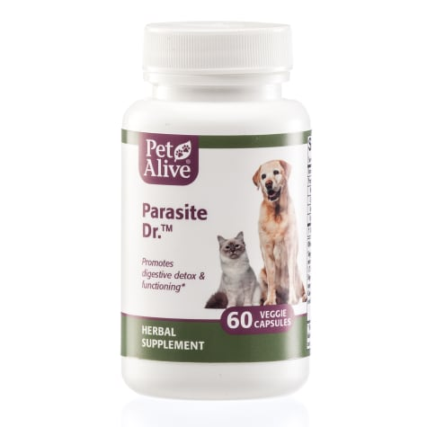 PetAlive Parasite Dr. Veggie Cap Herbal Supplement For Digestive Functioning and Detoxification Pet Tablets