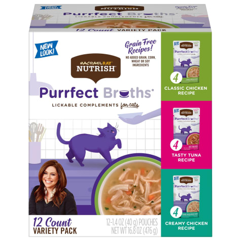 Rachael Ray Nutrish Grain Free Chicken and Tuna Recipe Variety Pack Wet Cat Food