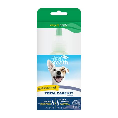TropiClean Fresh Breath Total Care Oral Teeth Gel Kit for Pets