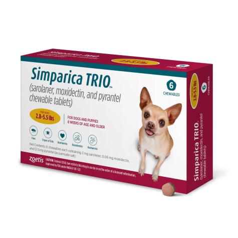 Simparica Trio 2.8-5.5 lbs. Dogs