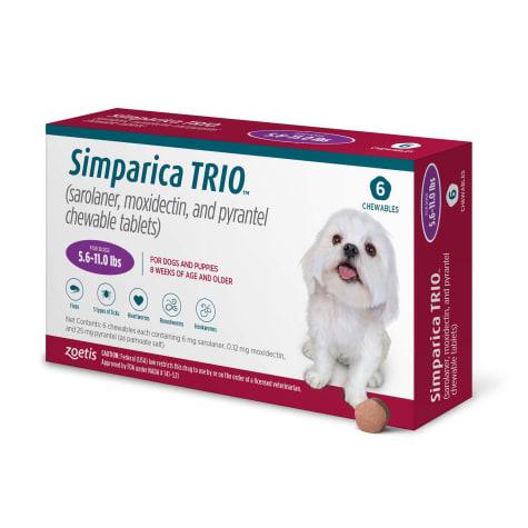 Simparica Trio 5.6-11 lbs. Dogs