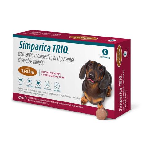 Simparica Trio 11.1-22 lbs. Dogs