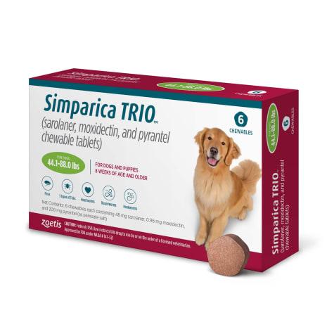 Simparica Trio 44.1-88 lbs. Dogs